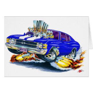 1971-72 Chevelle Blue-White Car Card