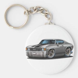1971-72 Chevelle Grey-Black Car Keychain
