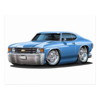 1971-72 Chevelle Lt Blue Car Postcard