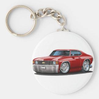 1971-72 Chevelle Maroon Car Basic Round Button Keychain
