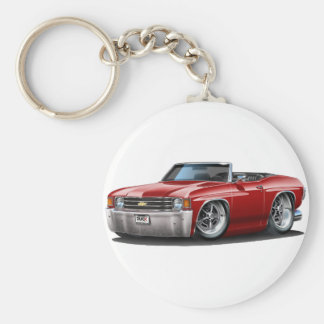 1971-72 Chevelle Maroon Convertible Keychain