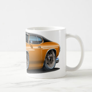 1971-72 Chevelle Orange-Black Top Car Coffee Mug