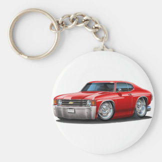 1971-72 Chevelle Red Car Keychain