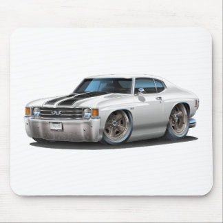 1971-72 Chevelle White-Black Car Mouse Pad