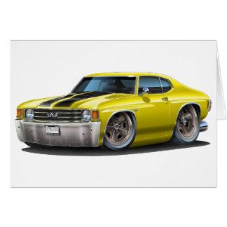 1971-72 Chevelle Yellow-Black Car Card