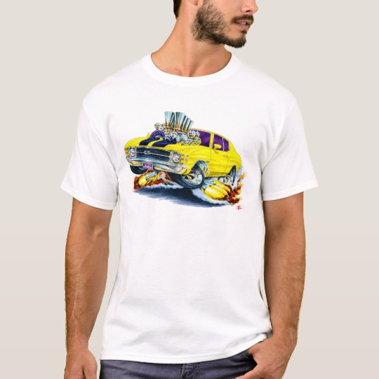 1971-72 Chevelle Yellow-Black Car T-Shirt