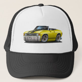 1971-72 Chevelle Yellow-Black Convertible Trucker Hat