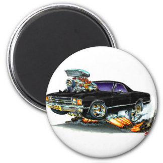 1971-72 El Camino Black Truck 2 Inch Round Magnet