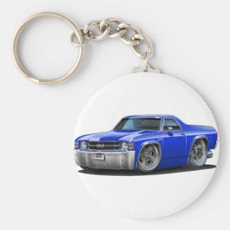 1971-72 El Camino Blue Truck Keychain