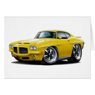 1971-72 GTO Yellow Car Card