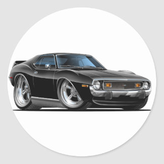 1971-72 Javelin Black Car Classic Round Sticker