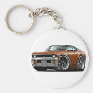 1971-72 Nova Brown-Black Top Keychain