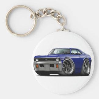 1971-72 Nova Dark Blue Car Keychain