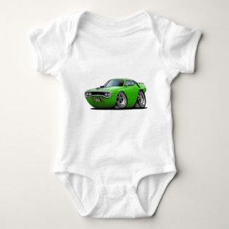 1971-72 Roadrunner Lime-Black Car Baby Bodysuit