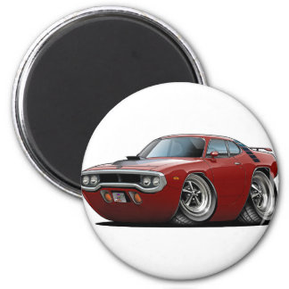 1971-72 Roadrunner Maroon-Black Car Magnet