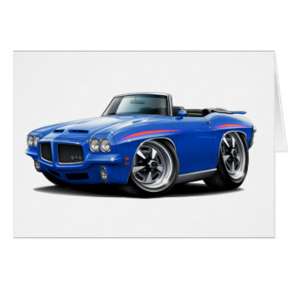1971 GTO Judge Blue Convertible Card