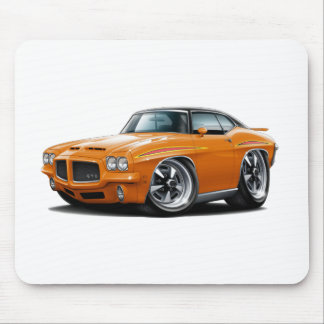 1971 GTO Judge Orange-Black Top Mouse Pad