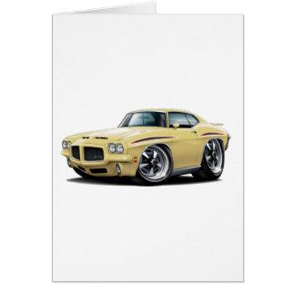 1971 GTO Judge Tan Car Card