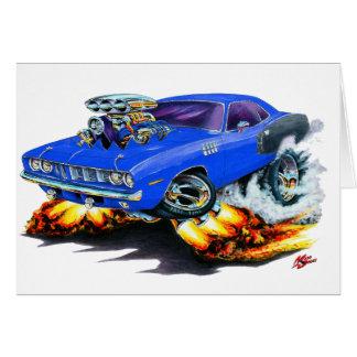 1971 Hemi Cuda Blue Car Card