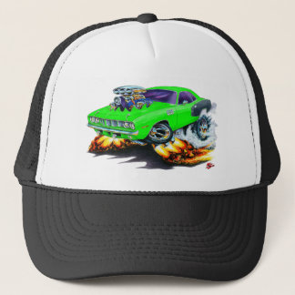 1971 Hemi Cuda Lime Car Trucker Hat