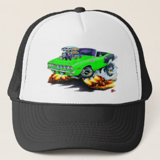 1971 Hemi Cuda Lime Convertible Trucker Hat
