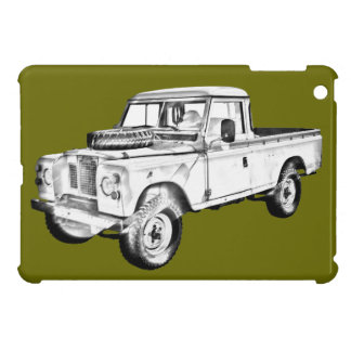 1971 Land Rover Pick up Truck Illustration iPad Mini Cases