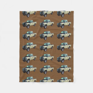 1971 Land Rover Pickup Truck Fleece Blanket