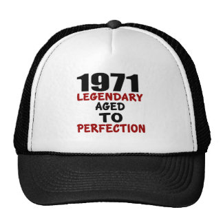 1971 LEGENDARY AGED TO PERFECTION TRUCKER HAT