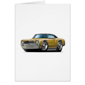 1971 Monte Carlo Gold-Black Top Car Card