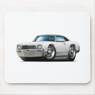 1971 Monte Carlo White-Black Top Car Mouse Pad
