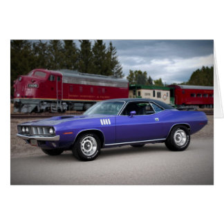 1971 Plymouth Barracuda Cuda Mopar Muscle Car Card