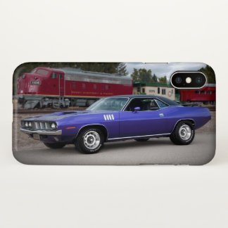 1971 Plymouth Barracuda Cuda Mopar Muscle Car iPhone X Case