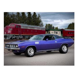 1971 Plymouth Barracuda Cuda Mopar Muscle Car Postcard