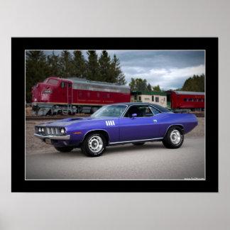 1971 Plymouth Barracuda Cuda Muscle Car Poster