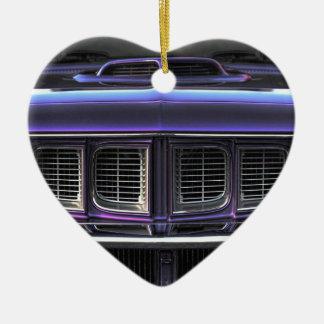 1971 Plymouth 'Cuda Ceramic Heart Ornament