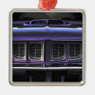 1971 Plymouth 'Cuda Silver-Colored Square Ornament
