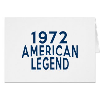 1972 American Legend Birthday Designs Card