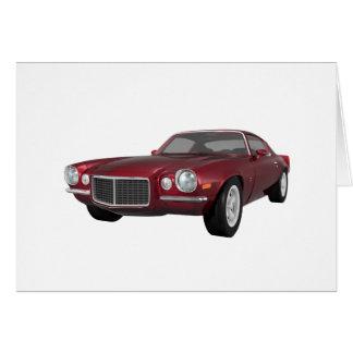 1972 Camaro: Muscle Car: Candy Apple Finish: Card