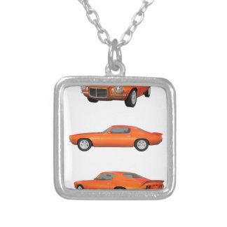 1972 Camaro: Square Pendant Necklace