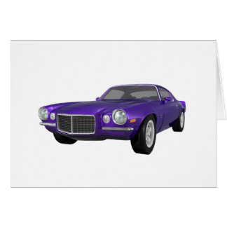 1972 Camaro Z28: Muscle Car: Purple Finish Card