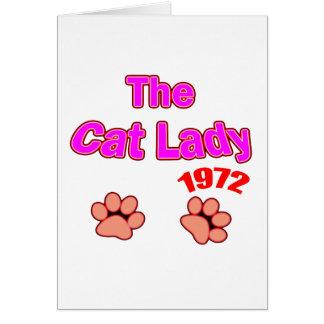 1972 cat lady card