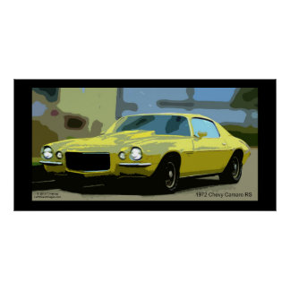 1972 CHEVY CAMERO POSTER