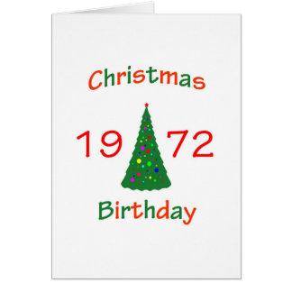 1972 Christmas Birthday Card