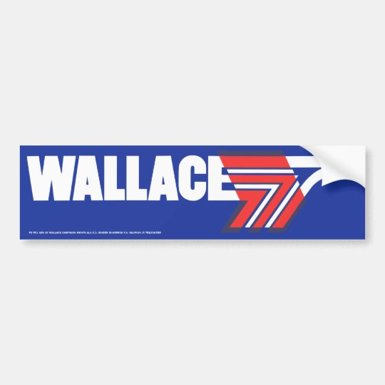 1972 George Wallace Presidential Campaign Sticker