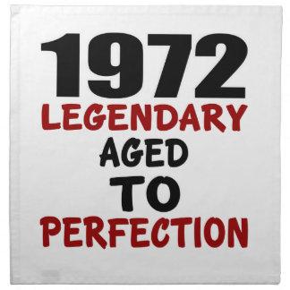 1972 LEGENDARY AGED TO PERFECTION NAPKIN