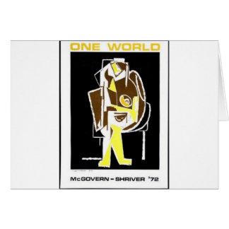 1972 Mcgovern - Shriver Card