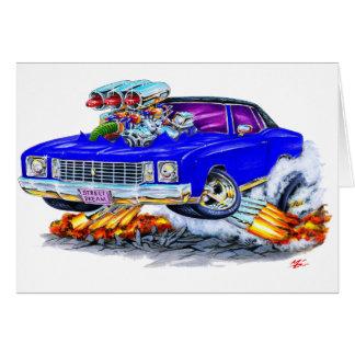 1972 Monte Carlo Blue Car Card
