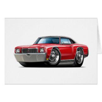 1972 Monte Carlo Red-Black Top Car Card