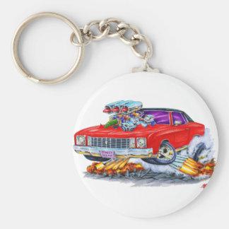 1972 Monte Carlo Red Car Basic Round Button Keychain