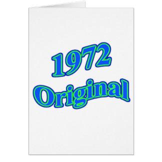 1972 Original Blue Green Card